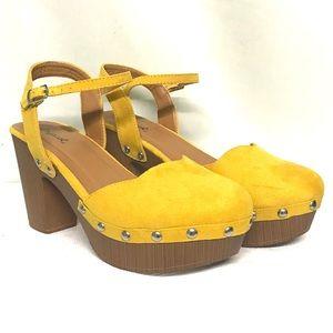 Qupid sunshine yellow clogs